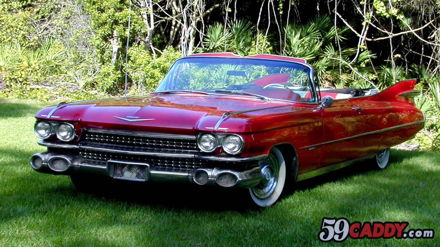 Red 1959 Cadillac Convertible